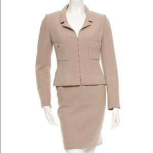 CHANEL wool skirt suit; size 40/ US size 2/4